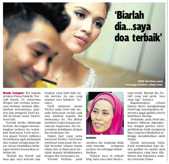 Mak Diana Danielle : Biarlah Farid Kamil Nak Cakap Apa!